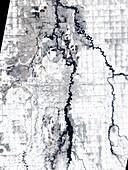 Fargo,North Dakota,USA,satellite image