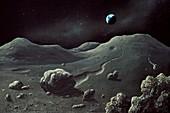 Lunar landscape,artwork