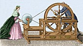 Abbe Nollet's electric machine