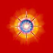 Nuclear fusion,conceptual artwork
