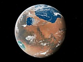 Terraformed Mars,artwork