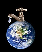 Water conservation,conceptual image