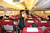 Cabin crew and passengers