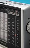 Portable Analogue radio tuning scale