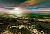 Earth-like planet,artwork