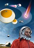 Yuri Gagarin's landing,artwork