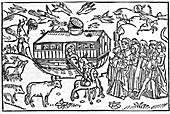 Noah's Ark,16th-century bible