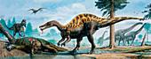 Baryonyx,Neovenator Iguanadon dinosaurs