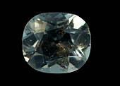 Plagioclase faceted gemstone