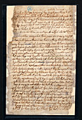 Sowerby family letter,18th century