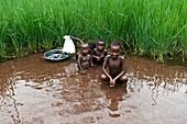 Children washing,Sierra Leone