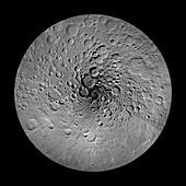 Moon's north pole,satellite image