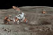 Apollo 16 lunar rover,artwork