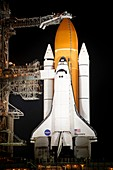 Discovery at launch pad,2011