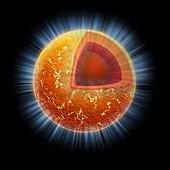 Neutron star structure,artwork