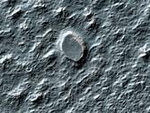 Rock debris on Mars,satellite image