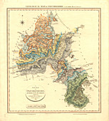 Geological map of Oxfordshire,1820