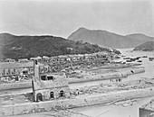 Typhoon damage,China,19th century