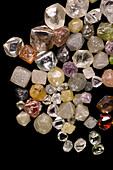 Selection of diamonds
