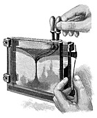 Magic lantern display,19th century