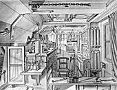 HMS Challenger laboratory,1870s