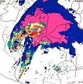 Weather radar display