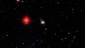 Markarian 739 colliding galaxies