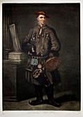 1737 Carl Linnaeus in Lapland dress HD