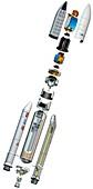 Ariane 5 rocket,artwork