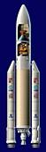 Ariane 5 rocket with ARD,artwork
