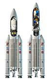 Ariane 5 rockets,artwork