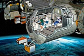 Columbus module of the ISS,artwork