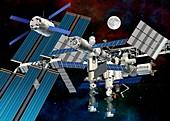 International Space Station,artwork