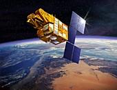 SPOT 5 satellite,artwork