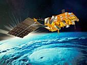 MetOp weather satellite,artwork