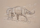 Baryonyx walkeri dinosaur,artwork