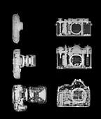 X-ray of a digital camera