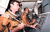 First Space Shuttle flight preparation