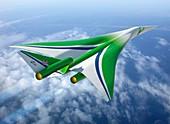 Supersonic aircraft,artwork