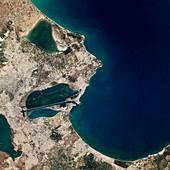 Carthage,Tunisia,satellite image