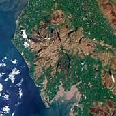 Lake District,UK,satellite image