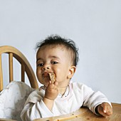 Six month old eating