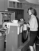 Met Office KDF9 computer,1965