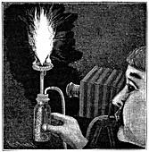 Magnesium camera flash,19th century