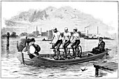 Pedal-powered boat,19th century