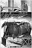Hydroelectric turbine,19th century