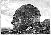 Human-like rock formation,19th century