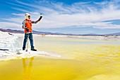 Lithium evaporation pond