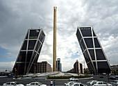 Gate of Europe and obelisk,Madrid
