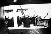 Titanic survivors on the Carpathia